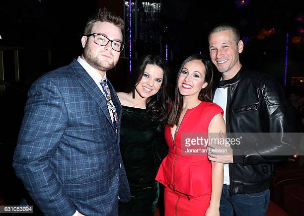 Dillon King Amy King Ashley Rosenbaum and JP Rosenbaum attend WE tv's Marriage Boot Camp Reality Stars and LA Hair Premiere Event on January 5 2017...