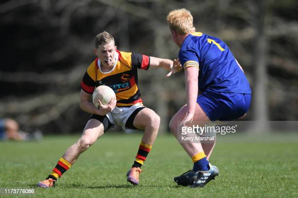 Dillon Martin of Waikato in action in the day 2 match Otago v Waikato during the 2019 Jock Hobbs Tournament at Owen Delany Park on September 11 2019...