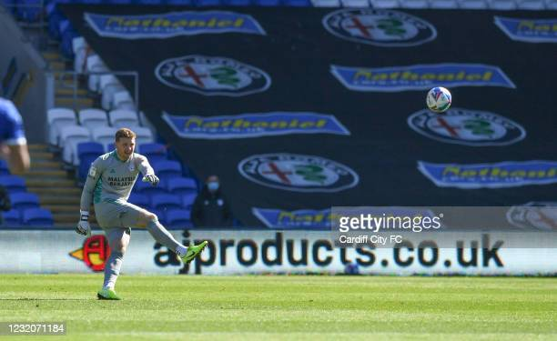 Dillon Phillips of Cardiff City FC during the Sky Bet Championship match between Cardiff City and Nottingham Forest at Cardiff City Stadium on April...