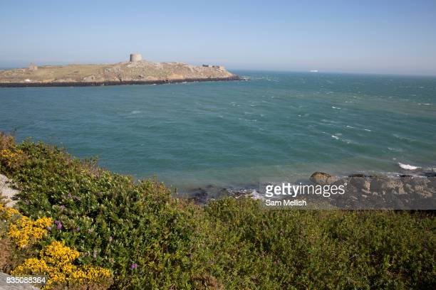 Dillons Park overlooking Dalkey Island on 08th April 2017 in County Dublin Republic of Ireland Dalkey is one of the most affluent suburbs of Dublin...