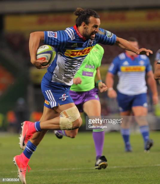 Dillyn Leyds of the Stormers during the Super Rugby match between DHL Stormers and Sunwolves at DHL Newlands on July 08 2017 in Cape Town South Africa
