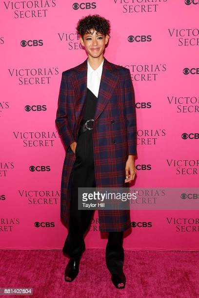 Dilone attends the Victoria's Secret Viewing Party Pink Carpet celebrating the 2017 Victoria's Secret Fashion Show in Shanghai at Spring Studios on...