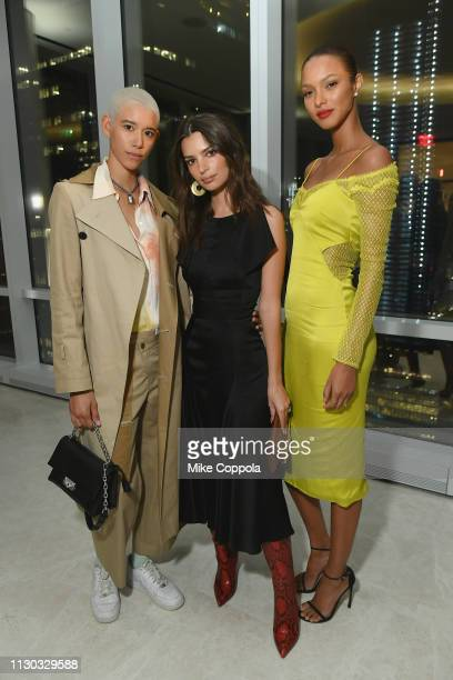 Dilone Emily Ratajkowski and Lais Riberio attend the InStyle Dinner to Celebrate the April Issue Hosted By Cover Star Ciara and Laura Brown on March...