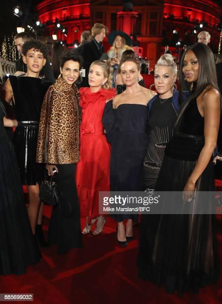 Dilone Farida Khelfa Annabelle Wallis Stella McCartney Pink and Naomi Campbell at The Fashion Awards 2017 in partnership with Swarovski at Royal...