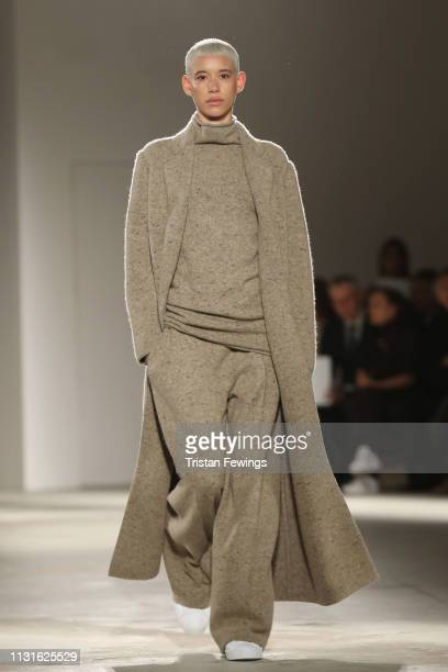 Dilone walks the runway at the Agnona show at Milan Fashion Week Autumn/Winter 2019/20 on February 23 2019 in Milan Italy