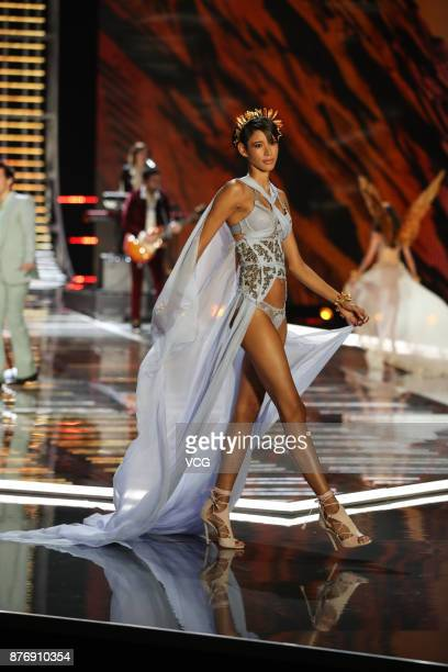 Dilone walks the runway during the 2017 Victoria's Secret Fashion Show at MercedesBenz Arena on November 20 2017 in Shanghai China