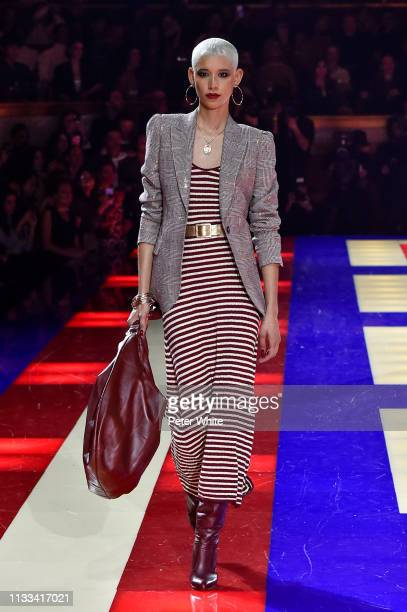 Dilone walks the runway during the Tommy Hilfiger TOMMYNOW Spring 2019 TommyXZendaya Premieres at Theatre des ChampsElysees on March 02 2019 in Paris...