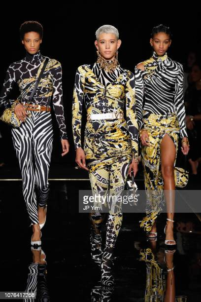 Dilone walks the ruwnay at the Versace PreFall 2019 Collection at The American Stock Exchange on December 02 2018 in New York City