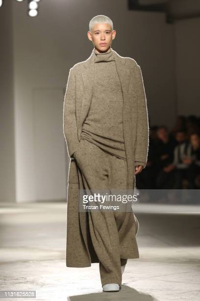 Dilonewalks the runway at the Agnona show at Milan Fashion Week Autumn/Winter 2019/20 on February 23 2019 in Milan Italy