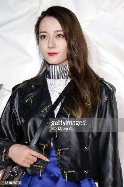 Dilraba Dilmurat attends the photocall for 'Louis Vuitton Maison Seoul' opening party on October 30 2019 in Seoul South Korea