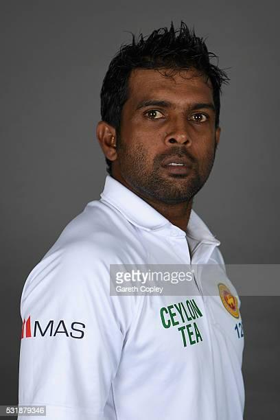 Dilruwan Perera of Sri Lanka poses for a portrait at Headingley on May 17 2016 in Leeds England