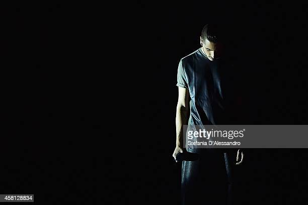 Diluvio performs during X Factor TV Show on October 30 2014 in Milan Italy