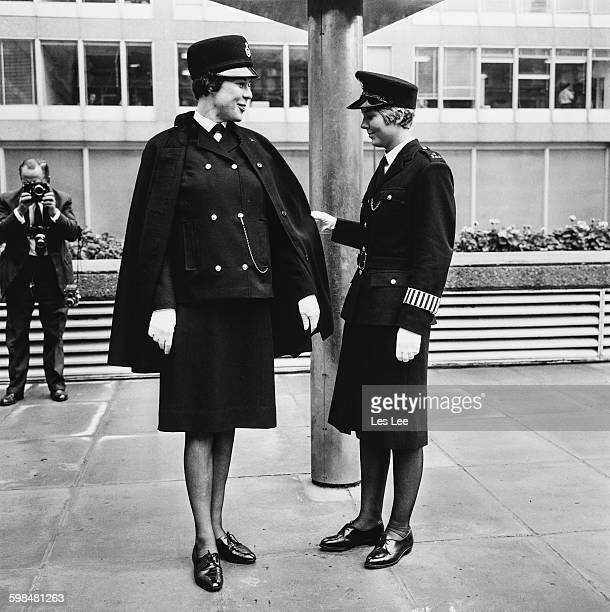 WPC Dilys Puddephatt is shown wearing the new uniform for female officers of the Metropolitan Police designed by Norman Hartnell London UK 14th...
