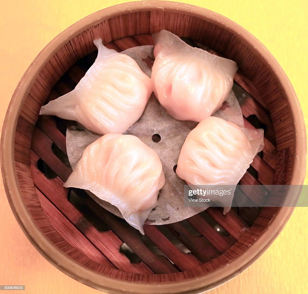 Dim Sum in Bamboo Steamer : Stock Photo