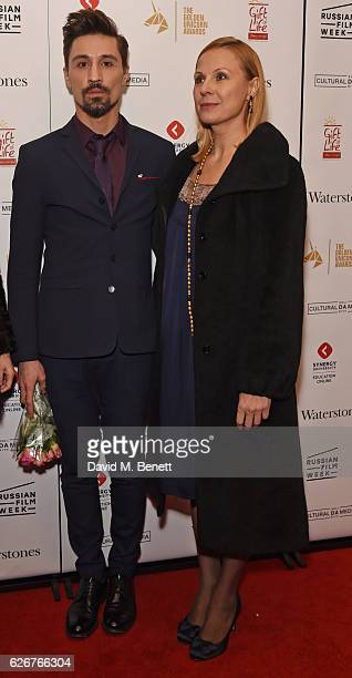 Dima Bilan and Dina Korzuh attend the Opening Night Gala screening of The Heritage Of Love during Russian Film Week 2016 at Regent Street Cinema on...