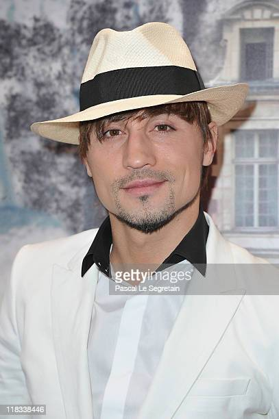 Dima Bilan attends 'The White Fairy Tale Love Ball' in Support Of 'The Naked Heart Foundation' at Chateau De Wideville on July 6 2011 in Crespieres...