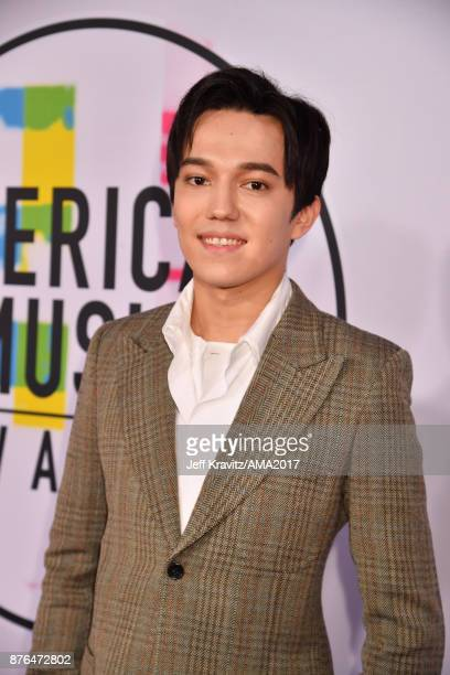 Dimash Kudaibergen attends the 2017 American Music Awards at Microsoft Theater on November 19 2017 in Los Angeles California