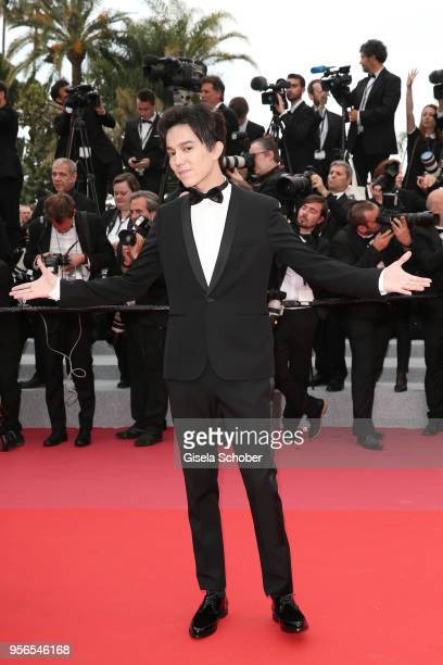 Dimash Kudaibergen attends the screening of Yomeddine during the 71st annual Cannes Film Festival at Palais des Festivals on May 9 2018 in Cannes...