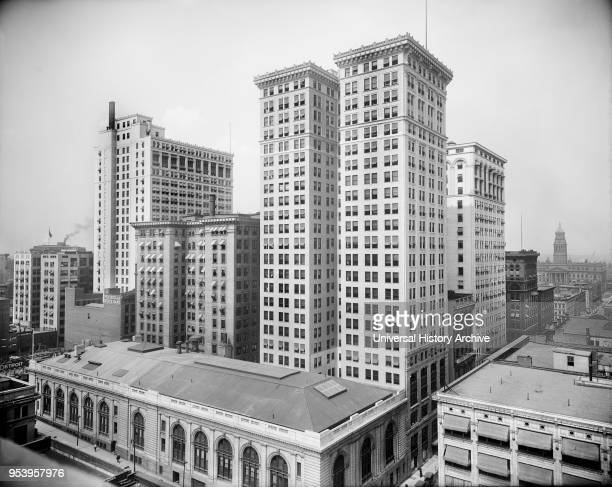 Dime Penobscot and Ford buildings Detroit Michigan USA Detroit Publishing Company early 1910's