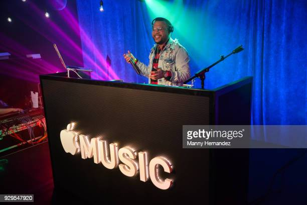 Dimelo Flow performs at Apple Music Celebrates 'Up Next' Artist Bad Bunny with a concert for fans at Bar 1306 in Miami Florida on March 8 2018