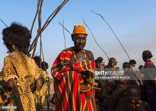 Dimi ceremony in Dassanech tribe to celebrate circumcision of teenagers Turkana County Omorate Ethiopia on June 7 2017 in Omorate Ethiopia