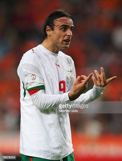 Dimitar Berbatov of Bulgaria in action during of the Euro 2008 Group G Qualifying match between the Netherlands and Bulgaria at the Amsterdam ArenA...