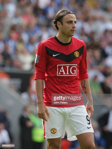 Dimitar Berbatov of Manchester United in action during the FA Barclays Premier League match between Wigan Athletic and Manchester United at DW...