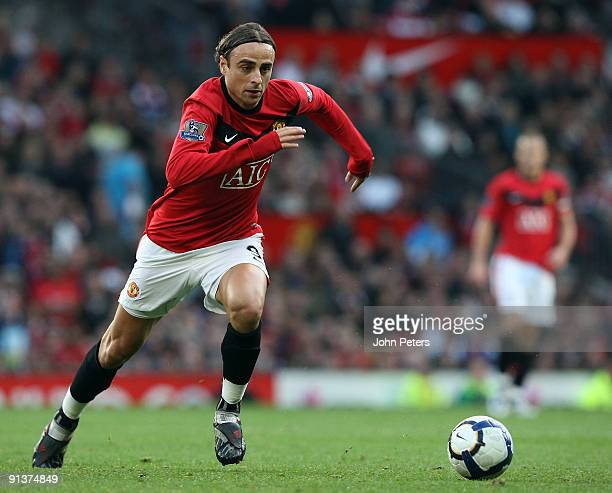 Dimitar Berbatov of Manchester United in action during the FA Barclays Premier League match between Manchester United and Sunderland at Old Trafford...