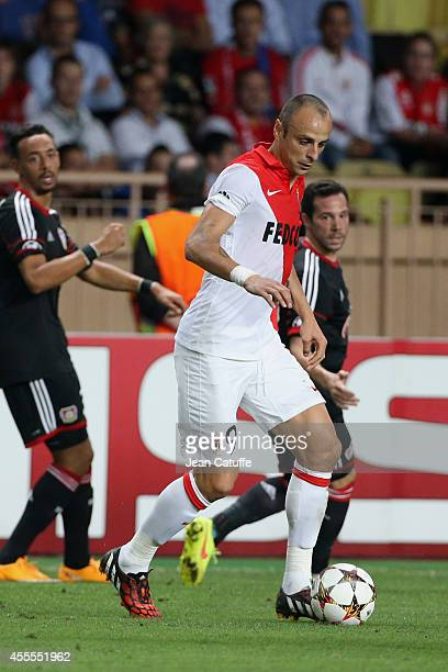 Dimitar Berbatov of Monaco in action during the UEFA Champions League Group C match between AS Monaco FC and Bayer 04 Leverkusen at Louis II Stadium...