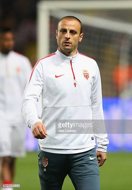 Dimitar Berbatov of Monaco looks on prior to the UEFA Champions League quarterfinal second leg match between AS Monaco FC and Juventus at Stade Louis...