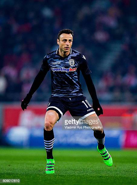 Dimitar Berbatov of PAOK in action during the Superleague Greece match between Olympiacos Piraeus and PAOK at Karaiskaki stadium on February 7 2016...