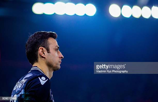 Dimitar Berbatov of PAOK is pictured during the Superleague Greece match between Olympiacos Piraeus and PAOK at Karaiskaki stadium on February 7 2016...