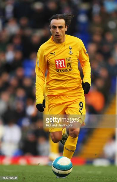Dimitar Berbatov of Spurs in action during the Barclays Premier League match between Birmingham City and Tottenham Hotspur at St Andrews on March 1...