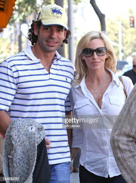 Dimitri Charalambopoulos and Camille Grammer are seen on April 17 2012 in Los Angeles California