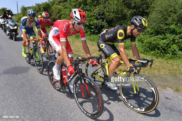 Dimitri Claeys of Belgium and Team Cofidis / Jerome Cousin of France and Team Direct Energie / Anthony Perez of France and Team Cofidis / Guillaume...