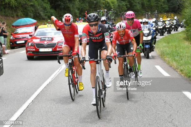 Dimitri Claeys of Belgium and Team Cofidis / Michael Schar of Switzerland and BMC Racing Team / Thomas Scully of Australia and Team EF Education...