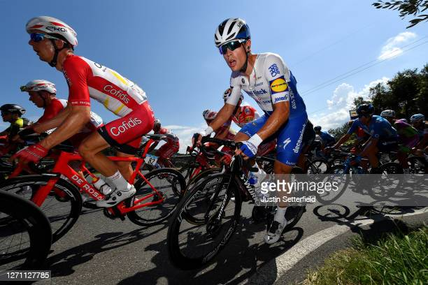 Dimitri Claeys of Belgium and Team Cofidis / Stijn Steels of Belgium and Team Deceuninck - Quick-Step / during the 55th Tirreno-Adriatico 2020, Stage...