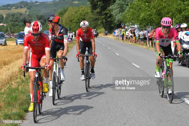 Dimitri Claeys of Belgium and Team Cofidis / Thomas Scully of Australia and Team EF Education First Drapac P/B Cannondale / Michael Schar of...