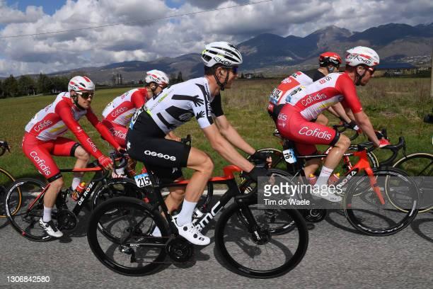 Dimitri Claeys of Belgium and Team Qhubeka Assos & Kenneth Vanbilsen of Belgium and Team Cofidis during the 56th Tirrlgium and Team Qhubeka Assos &...