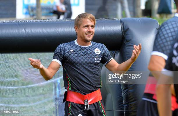 Dimitri Daeseleire during team bonding activities during the OHL Leuven training session on July 09 2018 in Maribor Slovenia