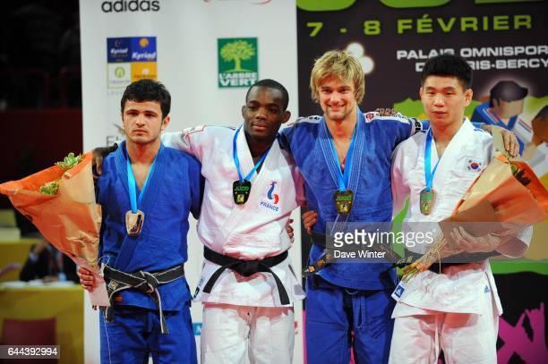 Dimitri DRAGIN / Amiran PAPINASHVILI / Ludwig PAISCHER / Gwang Hyeon CHOI - - -60kg - Tournoi de Paris - Bercy, Photo : Dave Winter / Icon Sport