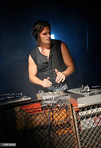 DJ Dimitri Hamlin on the set of Brian Anthony's Worked Up music video shoot at the 20th Century Fox Lot on September 14 2008 in Los Angeles California