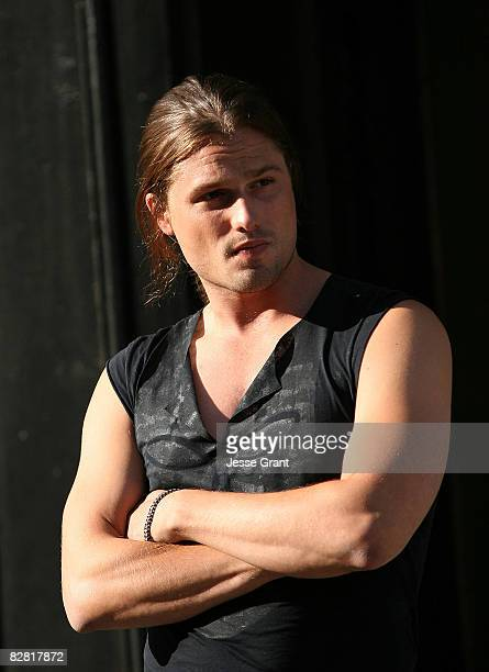 Dimitri Hamlin on the set of Brian Anthony's Worked Up music video shoot at the 20th Century Fox Lot on September 14 2008 in Los Angeles California