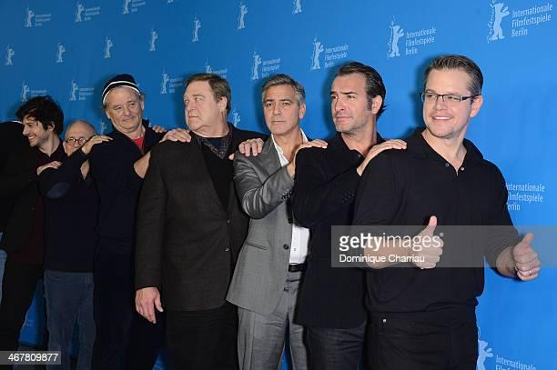 Dimitri Leonidas, Bob Balaban, Bill Murray, John Goodman, George Clooney, Jean Dujardin and Matt Damon attend 'The Monuments Men' photocall during...