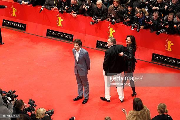 Dimitri Leonidas Michael Brandner and Karin Brandner attend 'The Monuments Men' Premiere Audi during The 64th Berlinale International Film Festival...