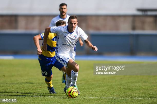 Dimitri Lienard of Strasbourg during the Friendly match between Sochaux and Strasbourg on July 10 2018 in Belfort France