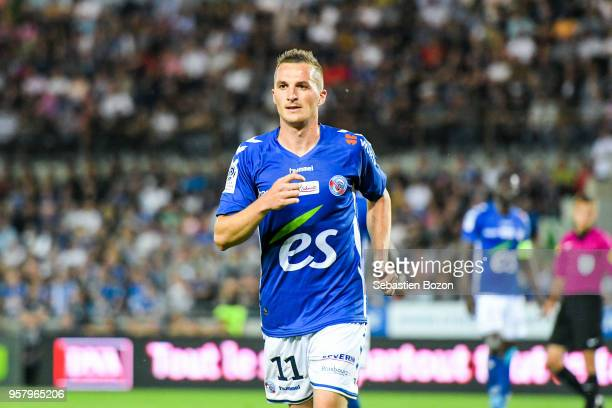 Dimitri Lienard of Strasbourg during the Ligue 1 match between Strasbourg and Olympique Lyonnais on May 12 2018 in Strasbourg