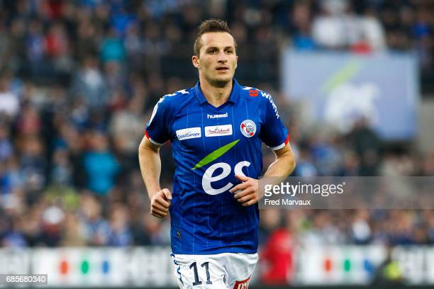 Dimitri Lienard of Strasbourg during the Ligue 2 match between RC Strasbourg Alsace and Bourg en Bresse on May 19 2017 in Strasbourg France