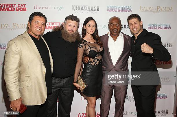 Dimitri Logothetis Roy Nelson Sara Malakul Lane Mike Tyson and Alain Moussi attend AFM'16 The Exchange's 5 Year Anniversary Celebration on November 1...