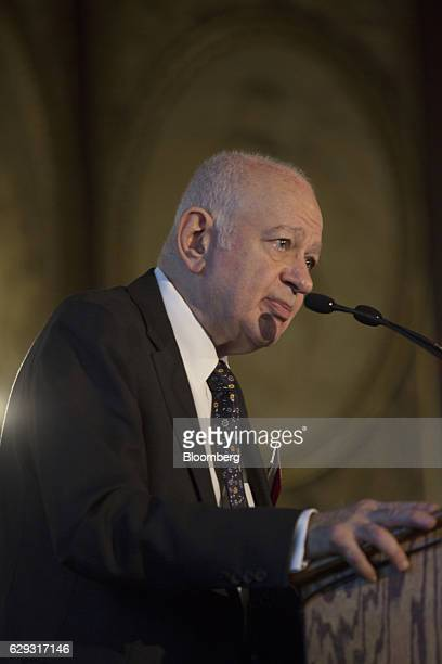 Dimitri Papadimitriou minister of economy and development for Hellenic Republic speaks at the 18th Annual Capital Link Inc Invest in Greece Forum in...